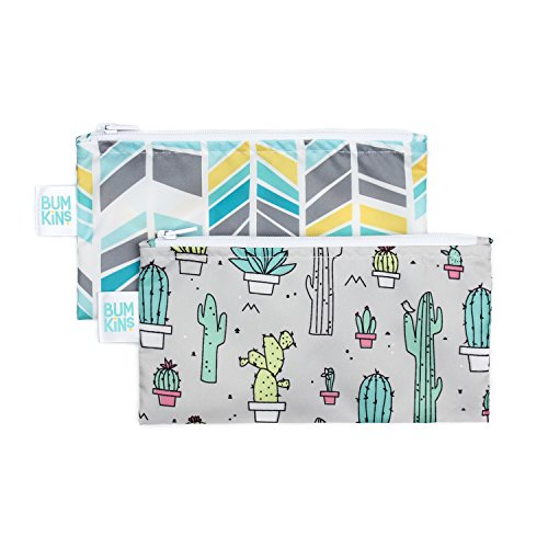 Bumkins Snack Bags, Reusable, Washable, Food Safe, BPA Free, 2-Pack – Cactus & Quill