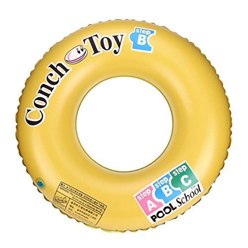 Belloc Yellow Swim Rings Inflatable Swimming Pool Tube Ring Raft Floating Toy for Adults Teens Kids Family Beach Party Fun - 1 or 3 Pack (60cm (23.6inch), 4.41)