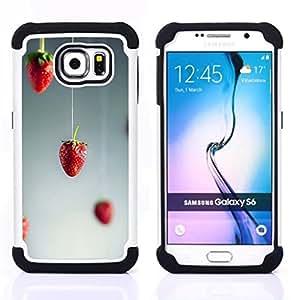 For Samsung Galaxy S6 G9200 - red art minimalist grey gray Dual Layer caso de Shell HUELGA Impacto pata de cabra con im??genes gr??ficas Steam - Funny Shop -
