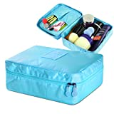 Zodaca Travel Bag Organizer Cosmetic Carry Case Toiletry With Brush Holders