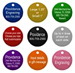 Providence Engraving Aluminum Pet ID Tags for Cat and Dog