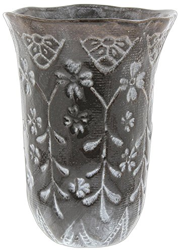 Hill's Park's Brown Ceramic Vase Abstract Hand-Thrown Design, 7.5'' by Hill's Park's (Image #1)