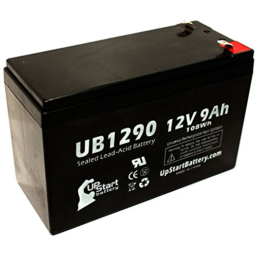 Replacement for APC Back-UPS 600 BN600 Battery - Replacement UB1290 Universal Sealed Lead Acid Battery (12V, 9Ah, 9000mAh, F1 Terminal, AGM, SLA) - Includes Two F1 to F2 Terminal Adapters