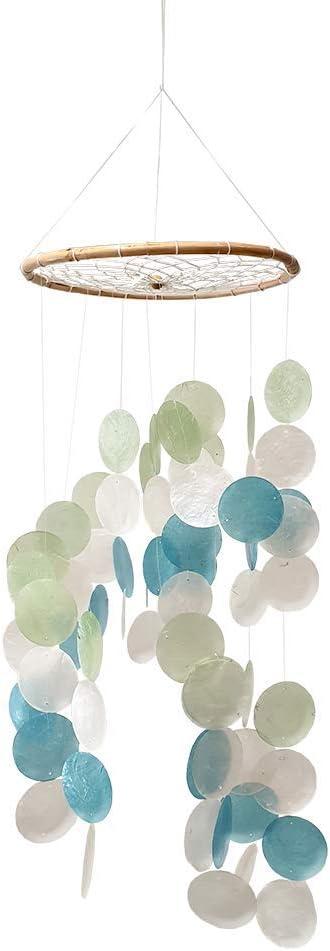 VIE Naturals Capiz Shell Windchime 60 cm Hanging Height Multicoloured