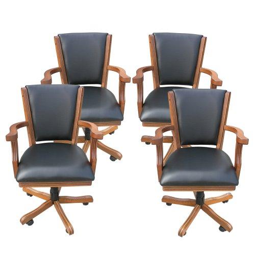 Kingston Oak Poker Table Arm Chair - Set of 4 (Furniture Kingston)