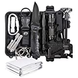 Emergency Survival Kit 13 in 1- Outdoor Survival Gear Tool for Wilderness/Trip/Cars/Hiking/Camping gear