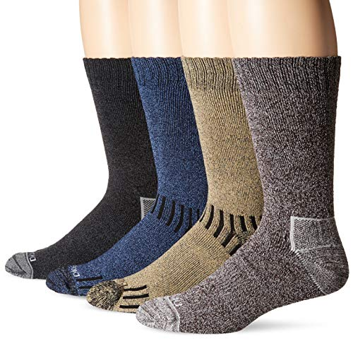 Dickies Men's Season Marled Moisture Control Crew Socks Multipack, Assorted (8 Pack), Shoe Size: 6-12