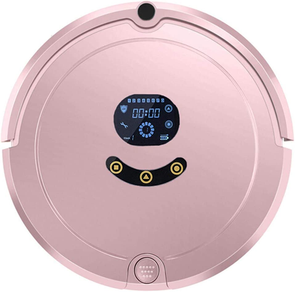 Robot Vacuum Cleaner, High Suction Automatic Self-Charging Robotic Vacuum, 3 in 1 Automatic Avoidance Obstacles, Suitable for a Variety of Ground,Pink