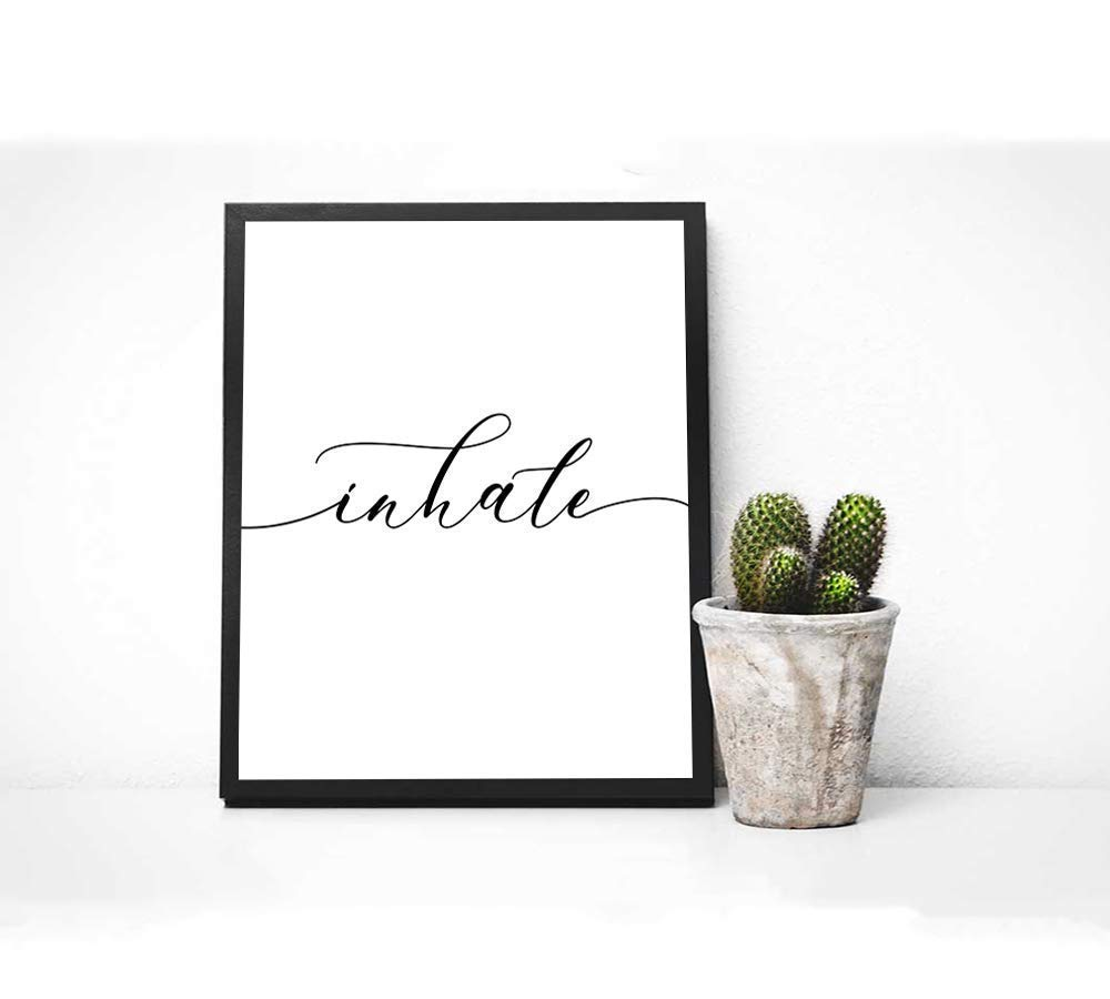 Artwork Handmade Products Inhale Exhale Print Set of 2-8x10 Wall ...