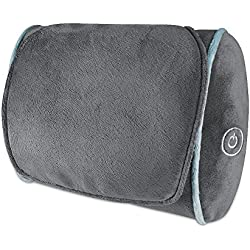 Thera-P Shiatsu Massage Pillow | Full Body Pillow | Deep Tissue Kneading Neck, Back, Lumbar, Shoulder, Leg Massager | 4 Rotating Nodes | Plush Soft Design | HoMedics