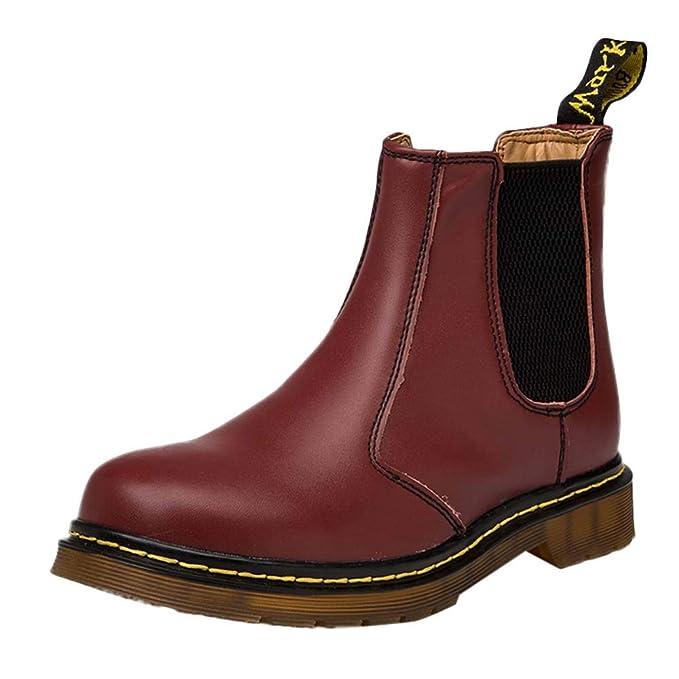 Mymyguoe Zapatos de Invierno Pareja Hombres Mujeres Botines Cortos Moto Zapatos Militares Movimiento Estilo BritáNico Black Friday Botas Zapatos Tacon bajo ...