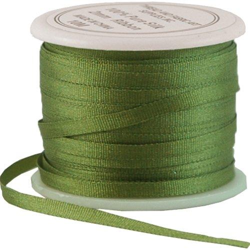 Silk Ribbon No.633-2mm Sage Green - 4 Sizes - 50 Colors