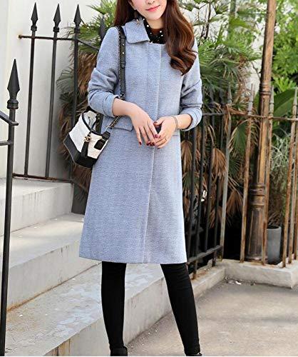 D'automne Longue Dames D'hiver Jean Coton Ab Femmes Simple En D'hiver Bleu Pour Chaud Laine Automne Manteau Hiver Un Et qWqAzwx7tZ