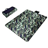 Camouflage Paided Portable Picnic Blanket Waterproof Beach Mat Outdoor Camping Moistureproof Gift 200 200cm / 78.74 78.74in