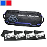 Synergee Elite Buff Blue Adjustable Fitness Sandbag with (4) Filler Bags 25-100lbs