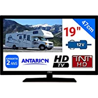 "TV TNT HD LED 19"" 47CM TNTHD USB HDMI - pour Camion Fourgon Camping Car 24 12 Volts 17W ANTARION ATV19HD"