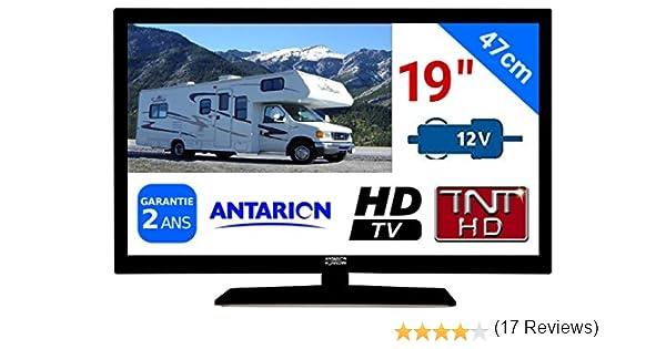TV TNT HD LED 19 47 cm tnthd USB HDMI – para camión vehículo Camping Car 24 (12 V, 17 W antarion atv19hd: Amazon.es: Electrónica