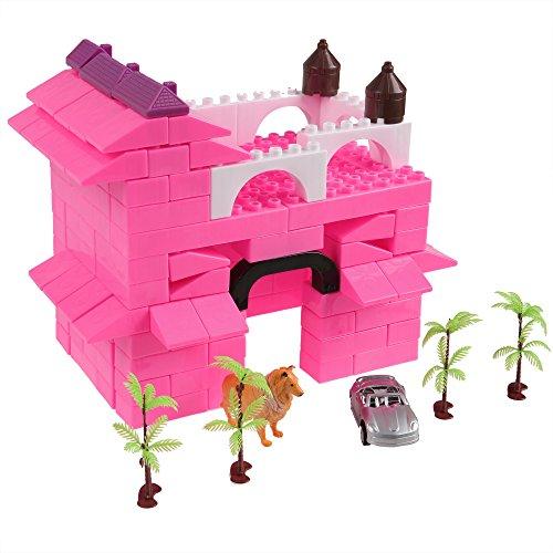 Zaplue Kid Building Block Bricks Set, 140 PCS Plastic Construction Bricks, Wisdom Development Preschool Puzzle Educational Toy Child Gift (Above 3 Year-Old) (Style 2)