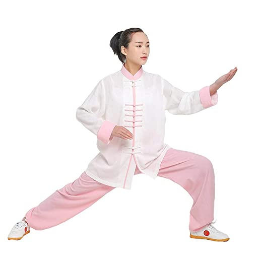 XGYUII Tai Chi Ropa Uniforme Lino Manga Larga Tai Chi Taekwondo ...