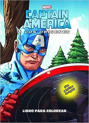 Capitán América Los Orígenes Libro Para Colorear Colorear
