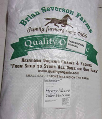 Henry Moore Yellow Corn | Heirloom Open Pollinated Yellow Dent Corn kernels | 15 lbs. | Farmer Direct (non-GMO)