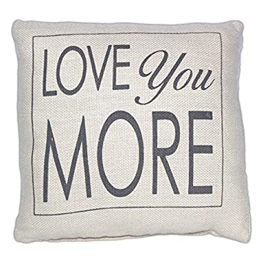 Country House Collection Primitive Sentimental Cotton 8  x 8  Throw Pillow (Love You More)