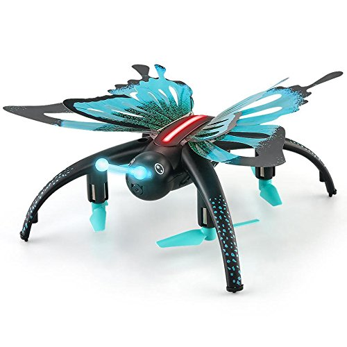 DraWaoy Butterfly-shaped UAV 2.4G Selfie Drone,Altitude Hold Headless Mode SEDetachable Butterfly Wings with WIFI FPV Camera Mini Drone (Black) Review