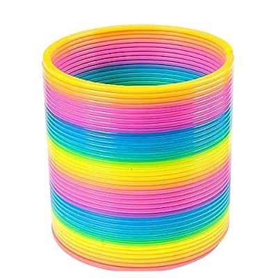 "Rhode Island Novelty 6.9"" Jumbo Rainbow Coil Spring: Toys & Games"