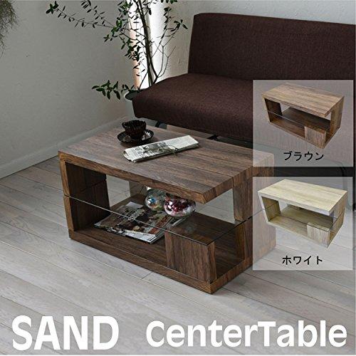 アンティークセンターテーブル ヴィンテージ感のあるデザインテーブル (幅75タイプ, ホワイト) B074S769D4  ホワイト 幅75タイプ