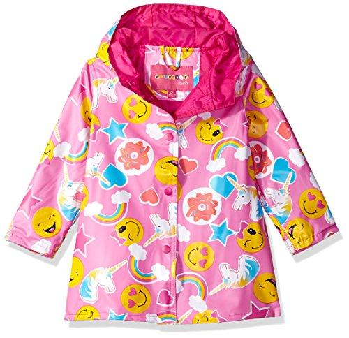 Wippette Toddler Girls' Printed Raincoats, Sugar Plum Emoji - Matte, 3T