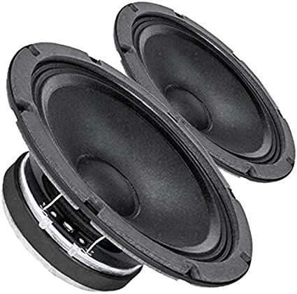 Pair Faital Pro 8FE200 4ohm 8 95dB Woofer Midbass Voice Replacement Speaker
