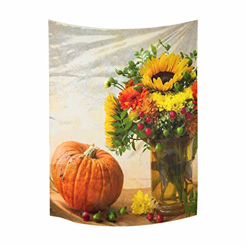 Abstract Autumn Pumpkin Tapestry Wall Hanging Tapestries