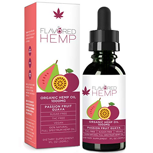 Hemp Oil - 1000 MG - Passion Fruit - 100% Organic Hemp Extract Drops - Natural Pain Stress Anxiety Relief & Improves Overall Health - Grown & Made in The USA... (Best Cbd For Vaping)