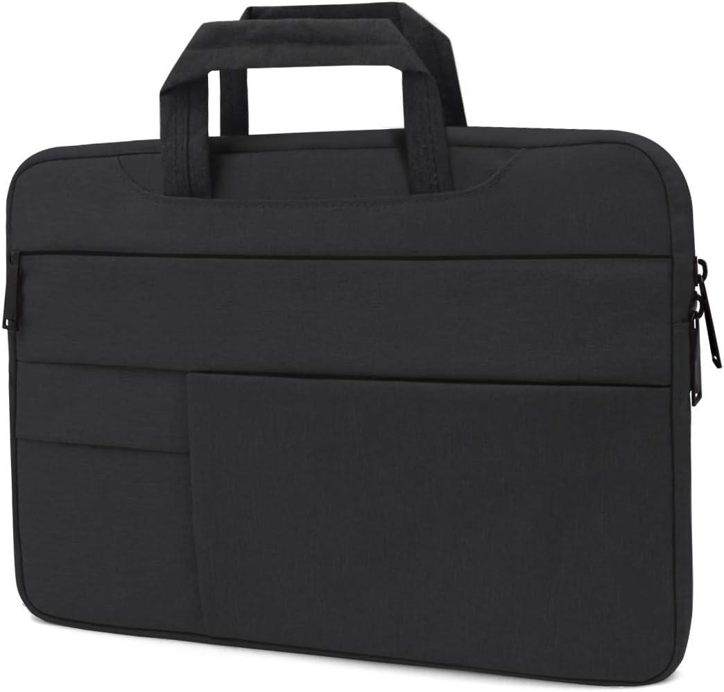Buruis 11-12 Inch Multi-Pocket Handbag Laptop Sleeve Bag Compatible New MacBook 12 Inch/MacBook Air 11.6 / Surface Pro Surface Pro 5, 4, 3 / Asus HP Samsung Acer Chromebook Tablet Case (Black)