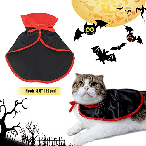 Pet Costumes Vampire Cloak Halloween Pet Costumes Cosplay Cloak Shawls Cape for Wedding Birthday Party Gift Pet Supplies