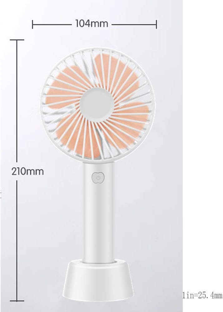 Color : F USB Rechargeable Handheld Small Electric Fan with Mobile Phone Bracket Bed Portable Out Mini Summer Shopping Handheld Fan BLWX