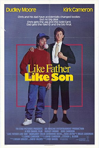 LIKE FATHER LIKE SON (1987) Original Movie Poster RARE ROLLED POSTER - 27x41 - Single-Sided - Dudley Moore - Kirk Cameron - Margaret Colin - Catherine Hicks ()