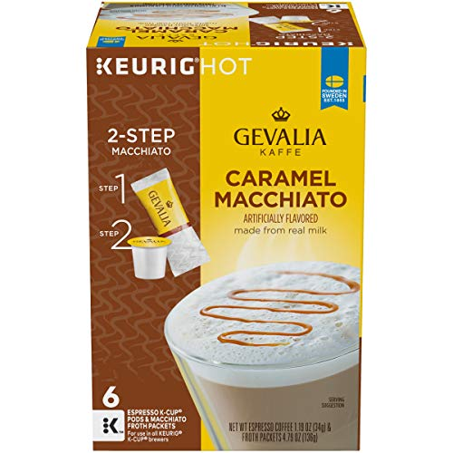 hiato Latte Coffee, K-CUP Pods, 5.98 oz, 6 Count ()