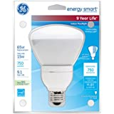 GE Lighting 47478 Energy Smart CFL 15-Watt (65-watt replacement) 750-Lumen R30 Floodlight Bulb with Medium Base, 1-Pack