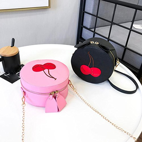Bags Girl Print Handbags VEMOW Ladies Anti Pink Vintage Round Clutches Bag Women Strap Shoulder Purse Theft Tote Backpacks Bags Satchel Cherry Messenger Purses Crossbody ETSTqBw