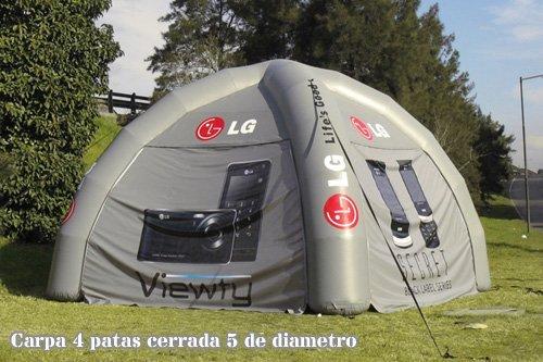 TUCUMAN AVENTURA - Carpas hinchables 4 Patas Cerrada: Amazon ...