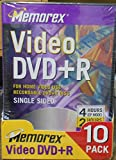 Memorex - 10 x DVD+R - 4.7 GB - DVD video box - storage media