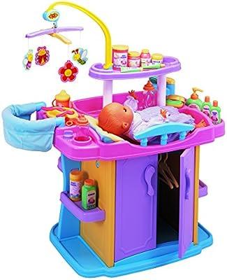 Smoby Baby Nurse Puppen-Spielcenter Puppenpflegecenter TOP ZUSTAND Möbel