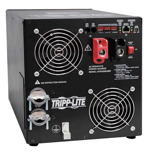 Tripp Lite APSX3024SW Moisture Resistant DC to AC Power Inverter + Battery Charger Black