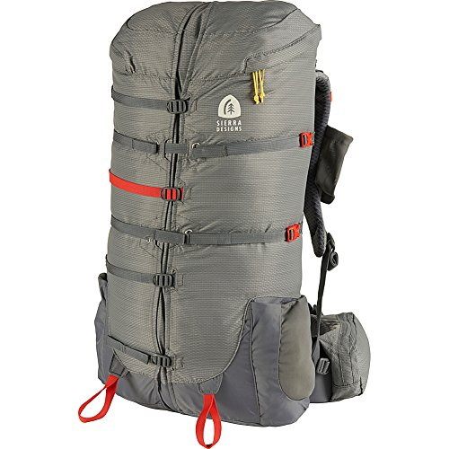Sierra Designs Flex Capacitor 40-60L Hiking Backpack – S M Jet Gray – L XL