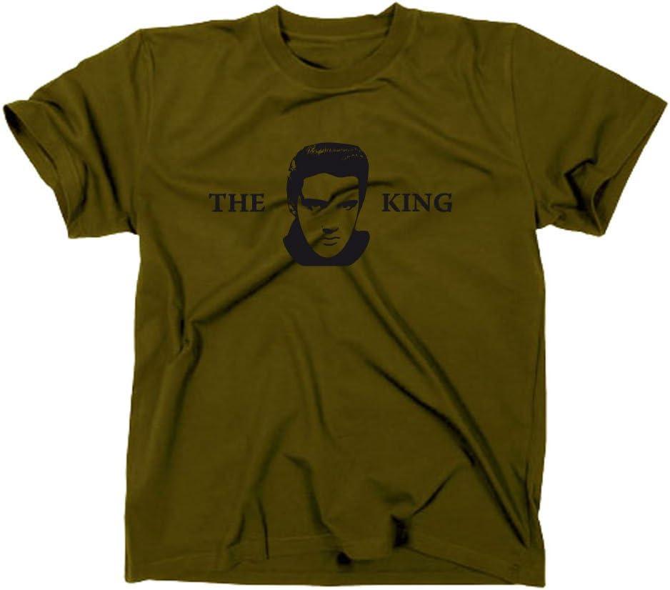 Elvis Presley The King T-Shirt, camiseta Verde verde oliva Talla:medium: Amazon.es: Deportes y aire libre