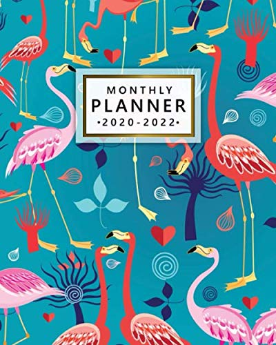 2020-2022 Monthly Planner: Exotic Flamingo Three Year Organizer & Schedule Agenda with Monthly Spread Views – Pretty 3…