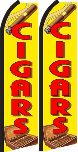 Cigar Standard Size Swooper Feather Flag Sign Pk of 2 (11.5x 2.5 - Advertisement Cigar