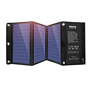51DxPpNCkAL. SS300  - Nekteck 21W Solar Charger with 2-Port USB Charger Build with High efficiency Solar Panel Cell for iPhone 6s / 6 / Plus, SE, iPad, Galaxy S6/S7/ Edge/ Plus, Nexus 5X/6P, any USB devices, and more