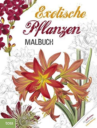 Exotische Pflanzen Malbuch für Erwachsene